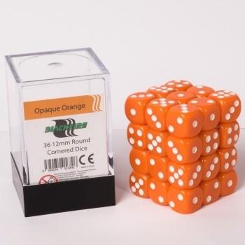 Blackfire Dice Cube - 12mm D6 36 Dice Set - Opaque Orange