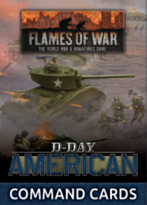 D-Day: American Command Cards (x50 cards)