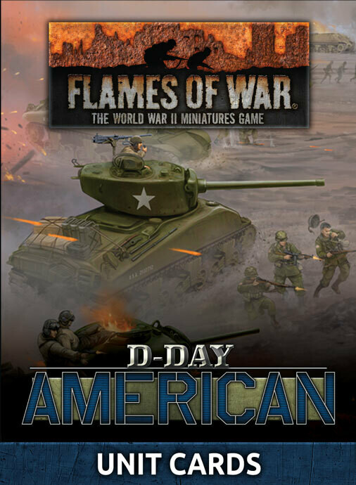 """""""D-Day American"""" Unit Cards (x42 cards)"""