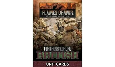 Fortress Europe: British Unit Cards