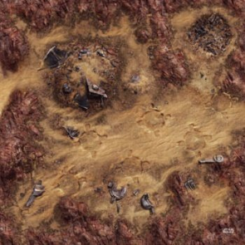 Star Wars Legion: Desert Junkyard Gamemat