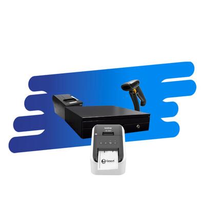 Kit Impresora de Tickets, Lector, Cajón, Etiquetadora