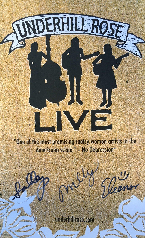 Signed Live Album tour poster