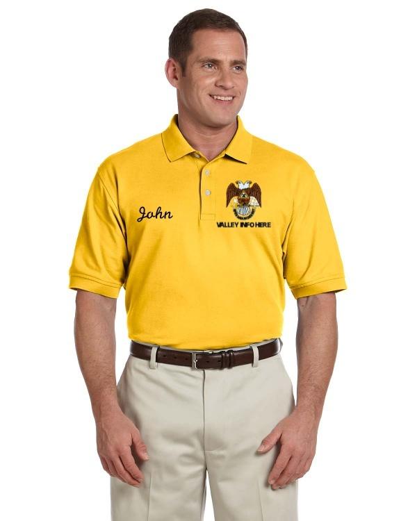 Mason masonic lodge shriner devon jones men 39 s pima pique for Mason s men s shirts
