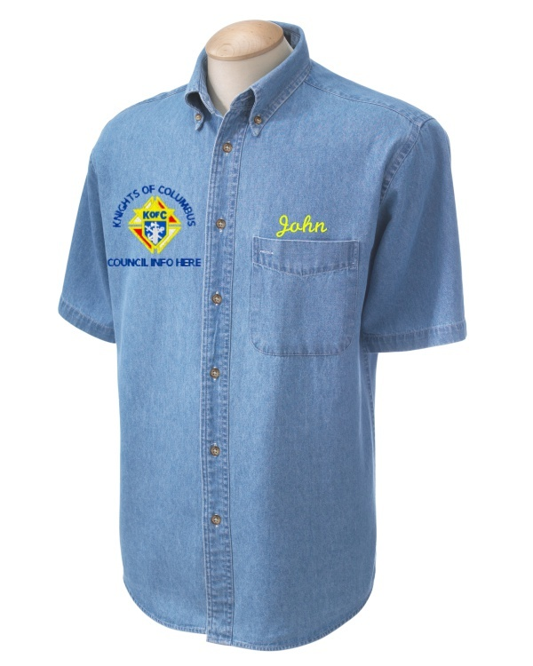 Knights of columbus custom embroidered harriton men 39 s 6 5 for Custom embroidered polo shirts no minimum order