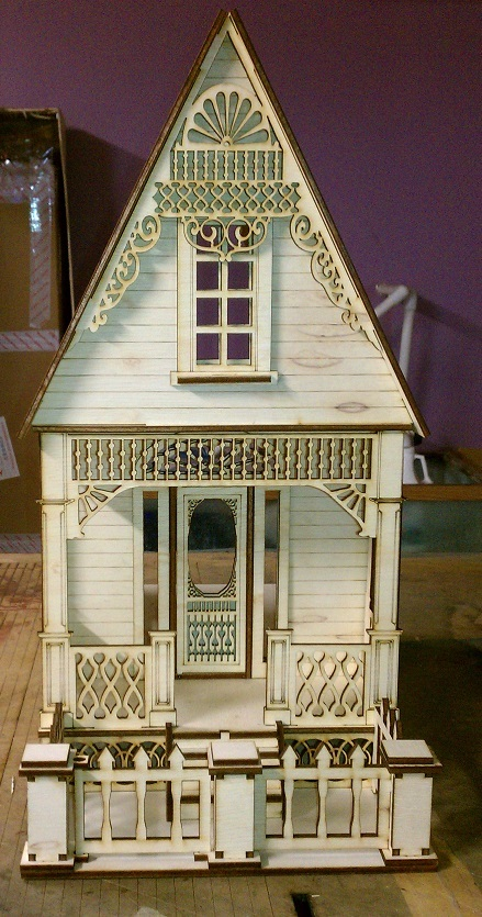 Little ann victorian cottage 1 12 scale dollhouse kit Victorian cottages kit homes