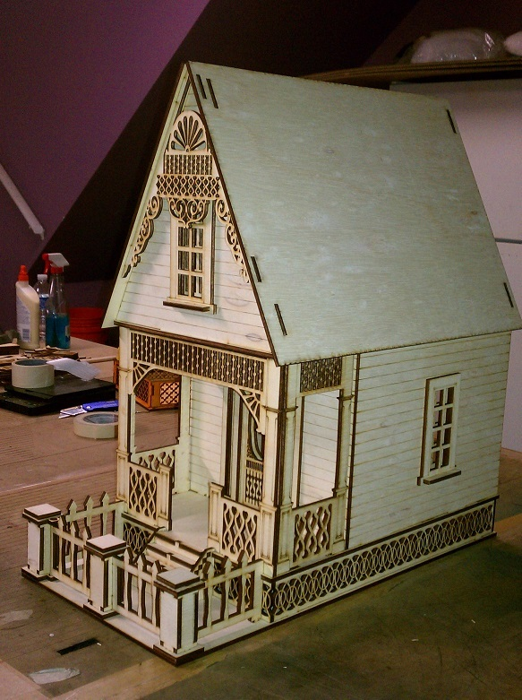 Little Ann Victorian Cottage 1 12 Scale Dollhouse Kit