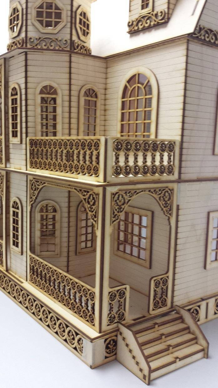 Jasmine Gothic Victorian Dollhouse Half Inch Scale Large Kit