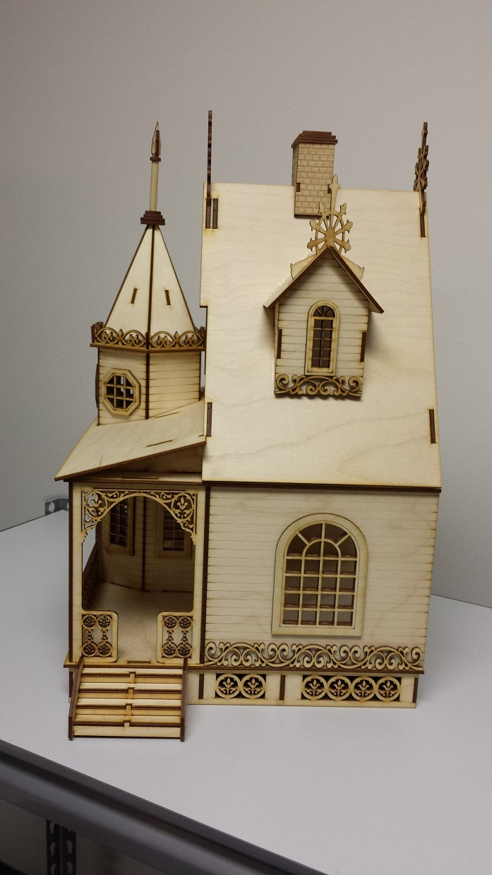 Jasmine gothic victorian cottage dollhouse 1 24 scale Victorian cottages kit homes