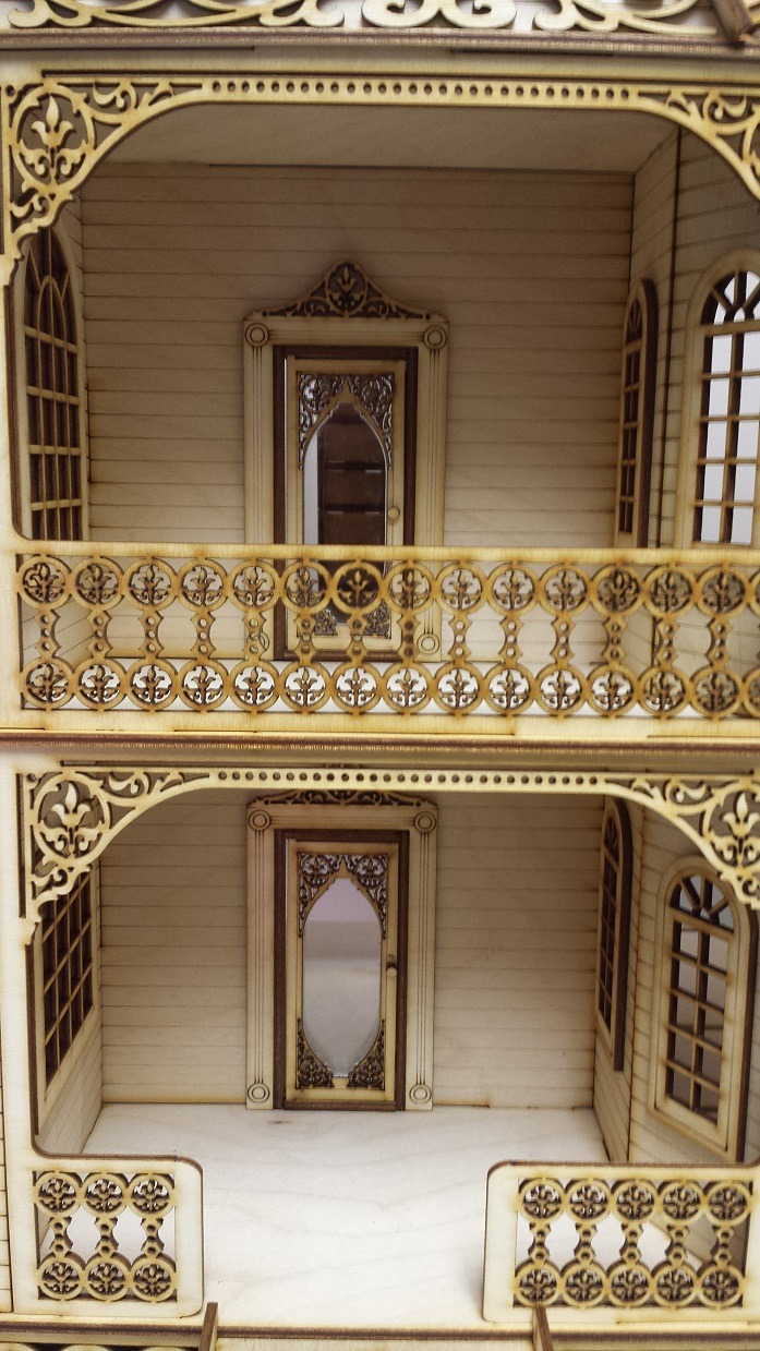 Jasmine Gothic Victorian 1 24 With French Doors