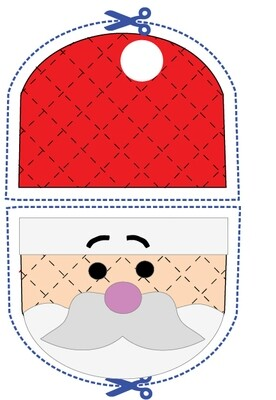 Santa animal oven mitt sewing machine pattern and tutorial