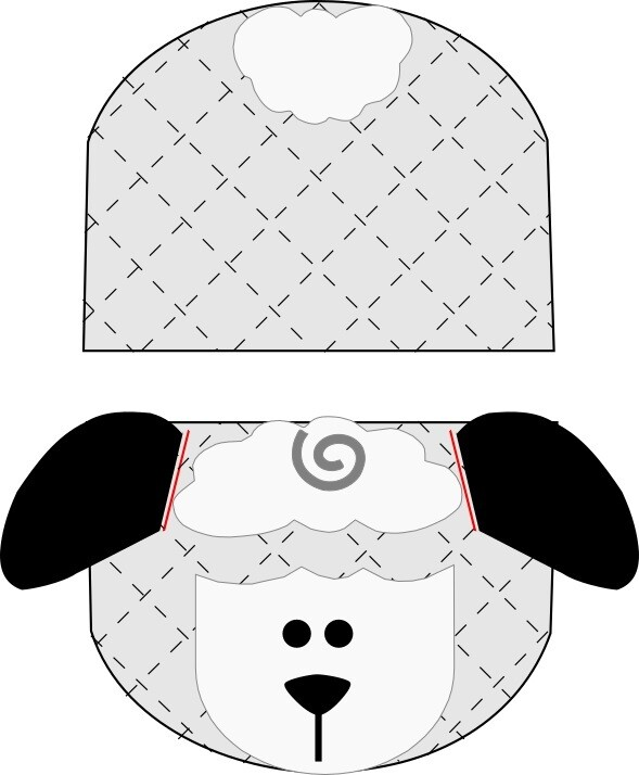 Lamb animal oven mitt sewing machine pattern and tutorial