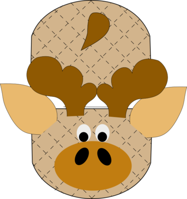 Moose animal oven mitt sewing machine pattern and tutorial