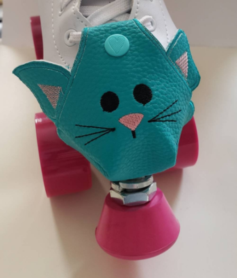 Kitty Toe guards for roller skates - handmade