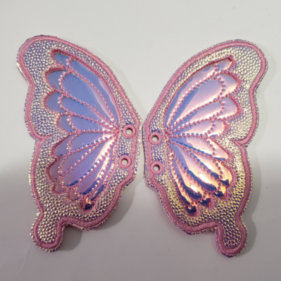 Butterfly  5 inch shoe wings with transparent centers