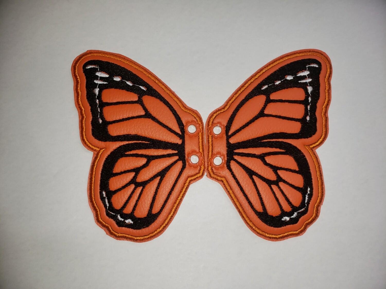 Butterfly monarch 5 inch shoe wings