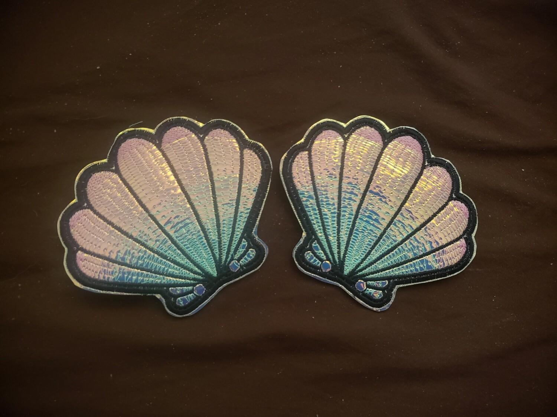 Seashell shoe wings custom fabrics and colors