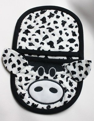 cow oven mitt embroidery in the hoop