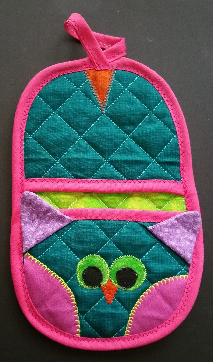 Owl animal oven mitt sewing machine pattern and tutorial