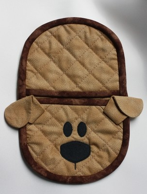 dog oven mitt embroidery in the hoop