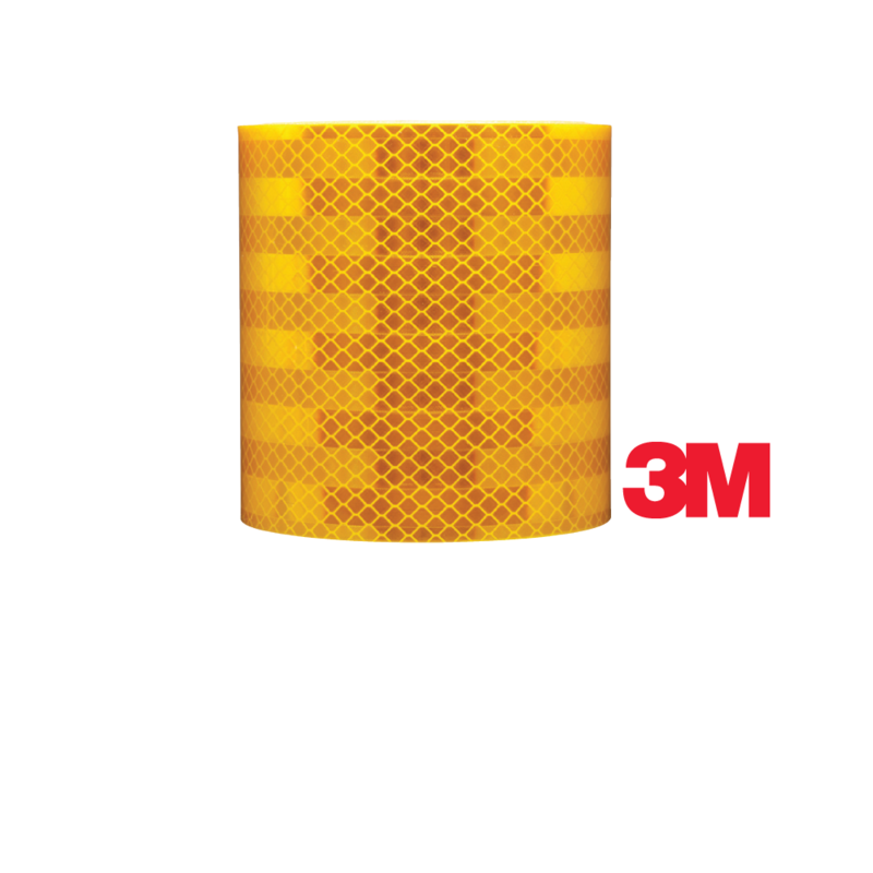 1 Inch by 10 ft Reflective Striping- School Bus Yellow