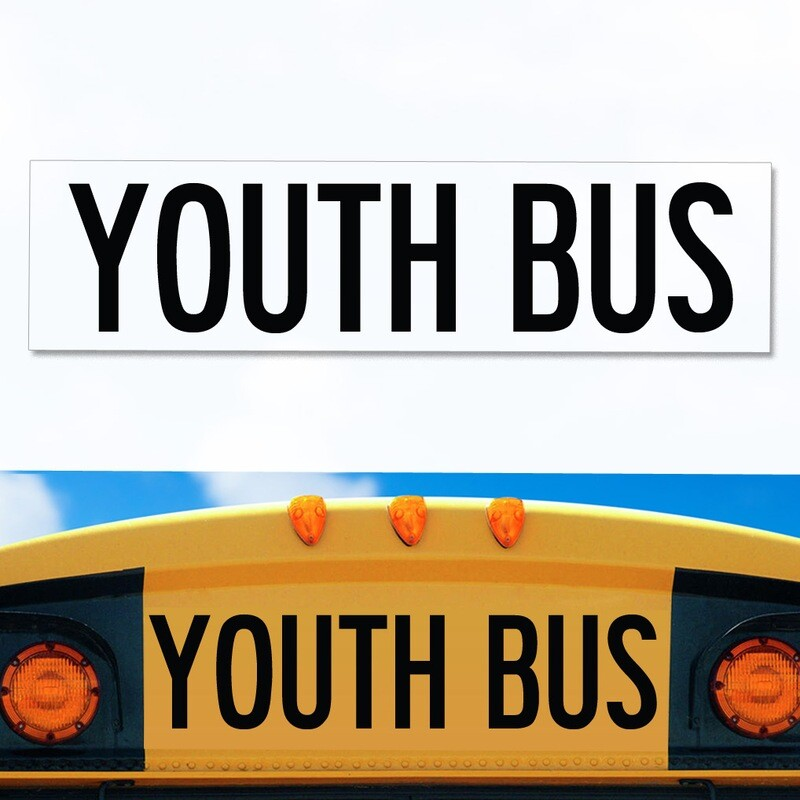 UNIVERSAL Youth Bus Decal 8