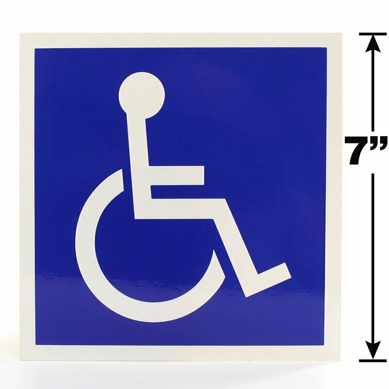 Symbol of Accessibility Label - ISA ADA 7-inch