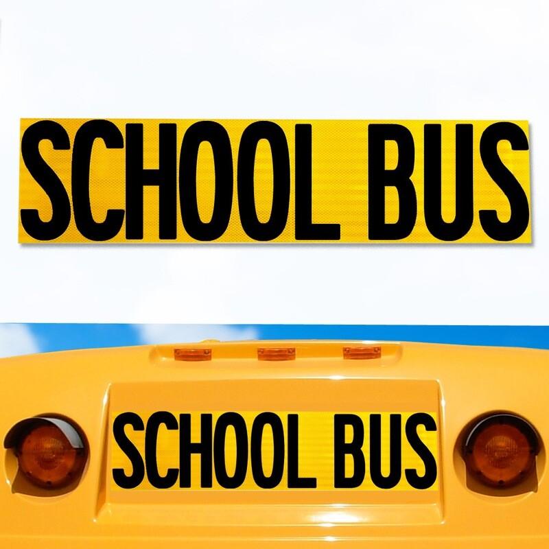Girardin Micro Bird Reflective School Bus Decal 8