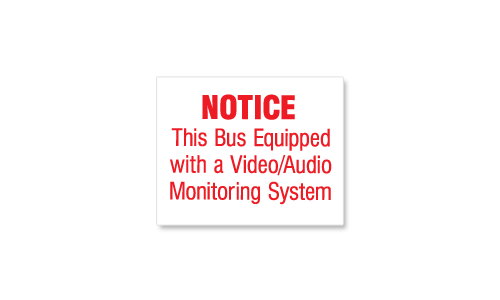 Video Audio Monitoring Notice Decal