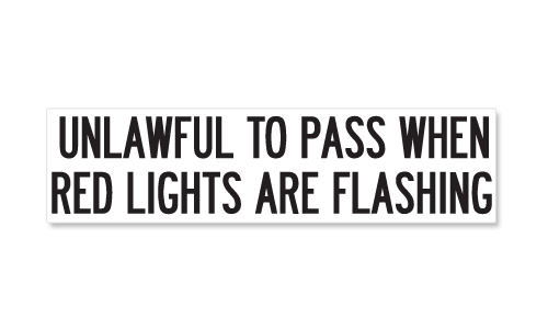Unlawful To Pass When Red Lights Are Flashing