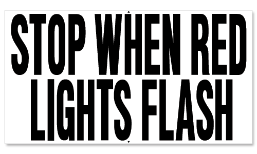STOP WHEN RED LIGHTS FLASH THOMAS BUILT VERSION 2