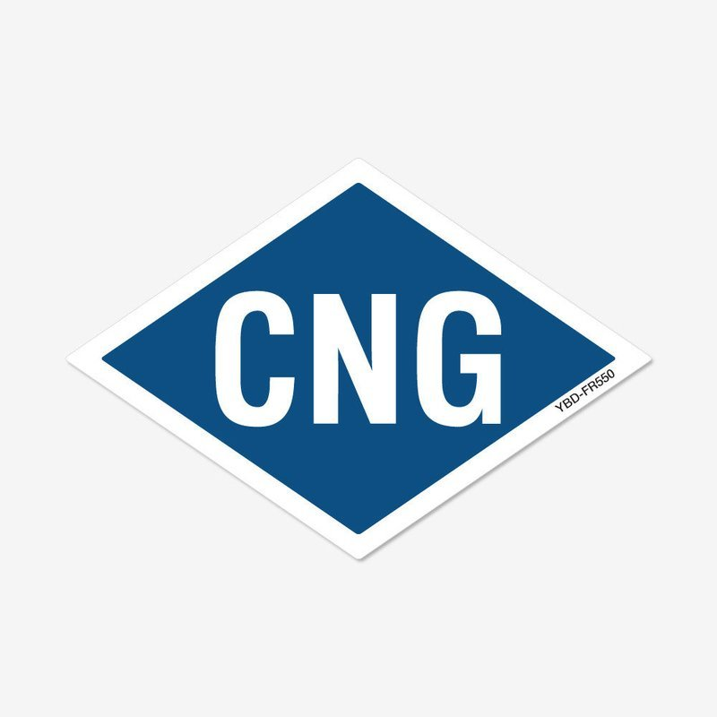 CNG Reflective Diamond Decal