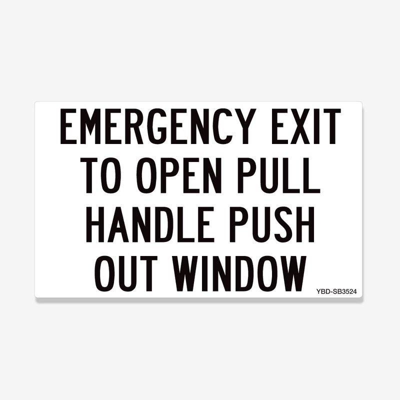 Emergency Exit Pull Handle Push Out Window