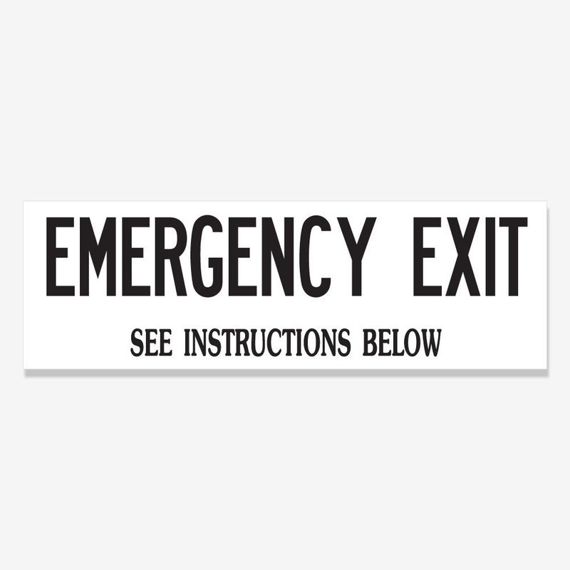 Emergency Exit See Instructions Below