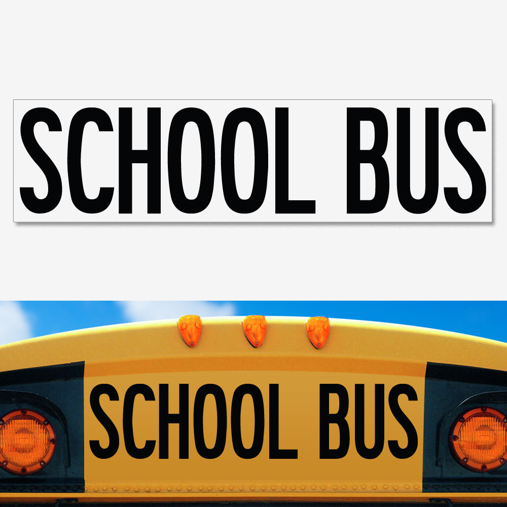 UNIVERSAL School Bus Decal 8