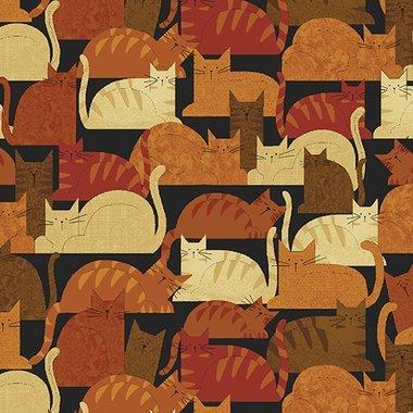 Benartex Crafty Cats Spice