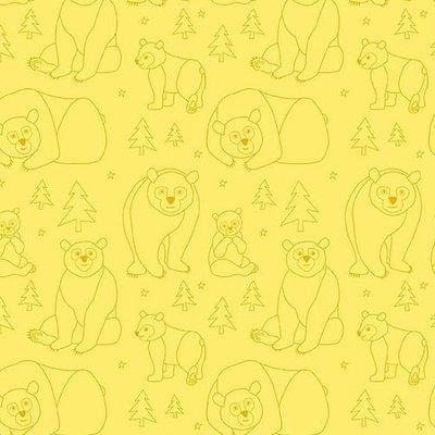 Andover Beary Happy On Yellow