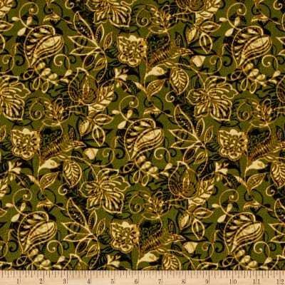 Benartex Layered Leaves Forest Multi