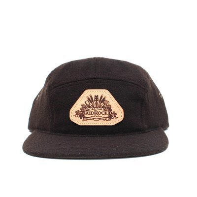 Dark Brown 5 Panel Hat