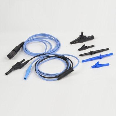 VCMM Blue Test Probe Lead, Black Probe, and 3 Alligator Clips