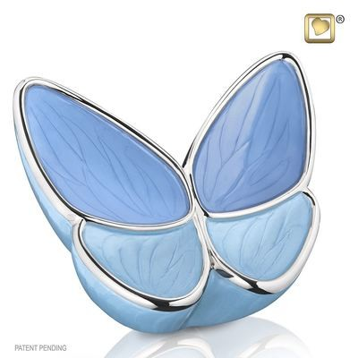 Butterfly Baby Urn in Blue (Wings of Hope)   22 cubic inches