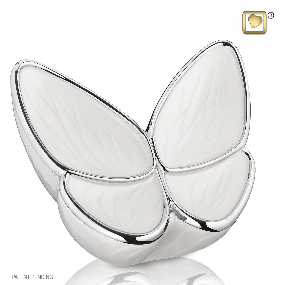 Butterfly Baby Urn in White (Wings of Hope-3 cubic inches)