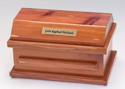 Cedar Miscarriage Casket (9 inch interior)     C-9-Ced