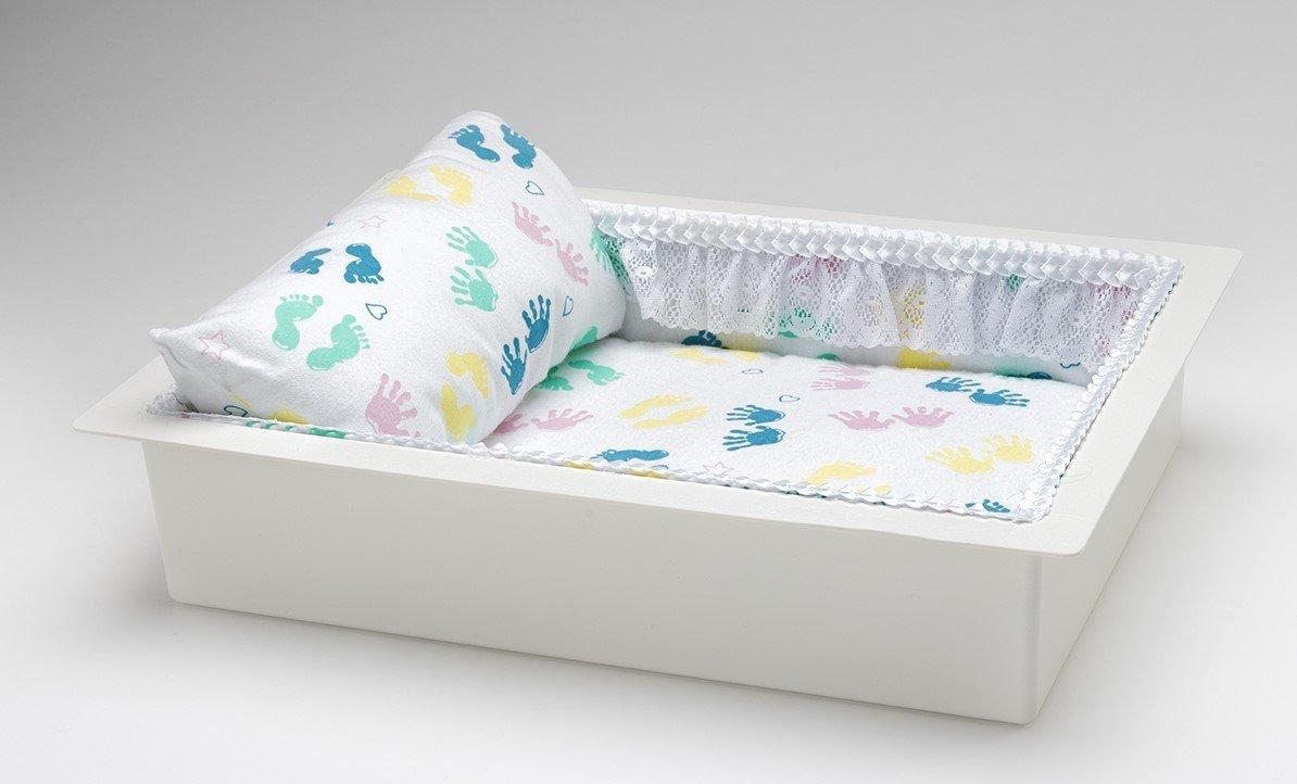 Twin or Single Baby Economy Casket Vault combo (baby print, 14 inch)     C-14-Eco-BB