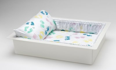 Twin or Single Baby Economy Casket Vault combo (baby print, 14 inch)     C-14-Eco-BB