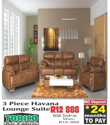 Havana 3 piece lounge suite