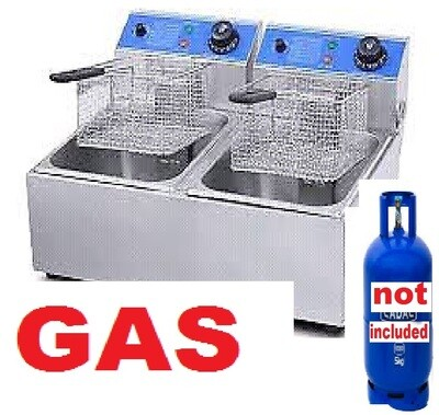 Gas double chips fryer