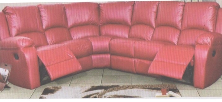 CORNER LOUNGE SUITE WITH 2 RECLINERS