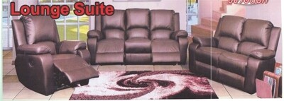 3 Piece Leather Combo Lounge Suite with Trade-Inn