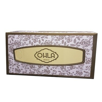 OHLA PREMIUM FACIAL TISSUES 3 PLY 100 SHEETS CTN 24 BOXES